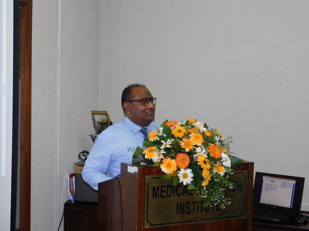 Dr Pathmal Representing WHO Sri Lanka