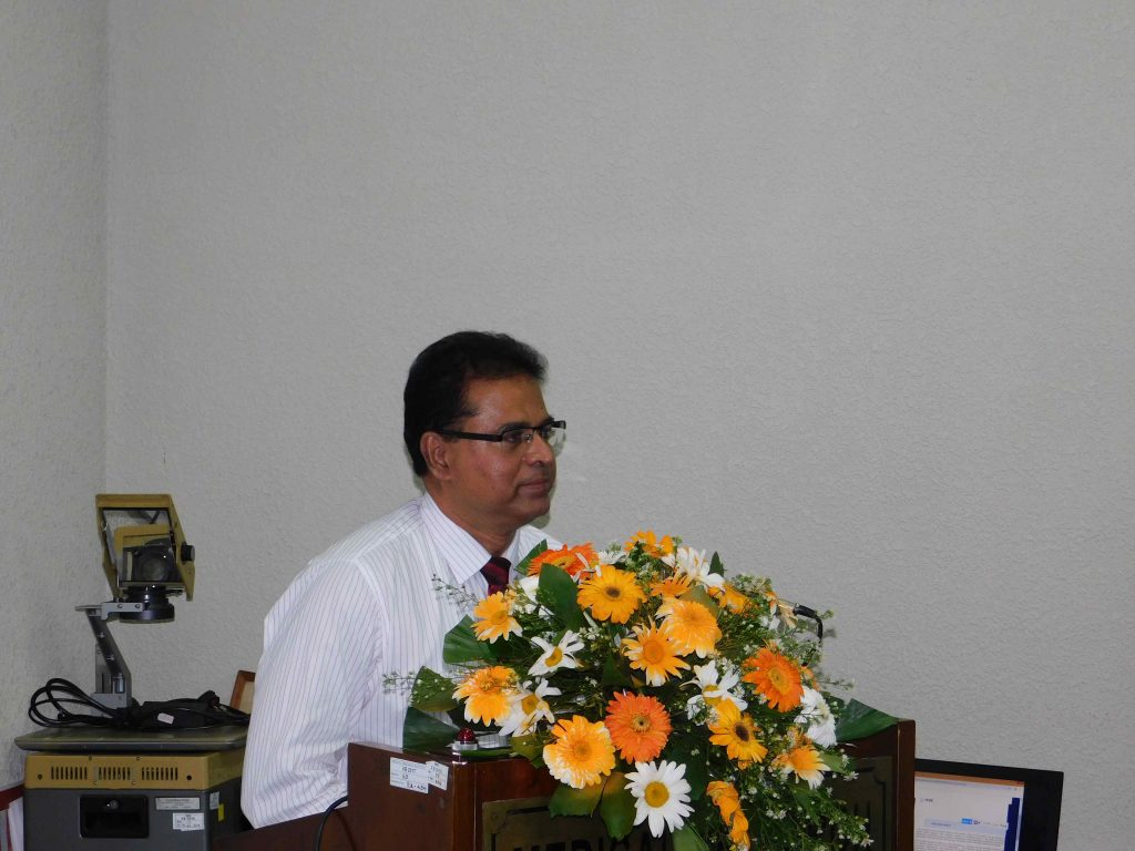 Dr Sudath K. Dharmarathne, Director of Healthcare Quality and Safety
