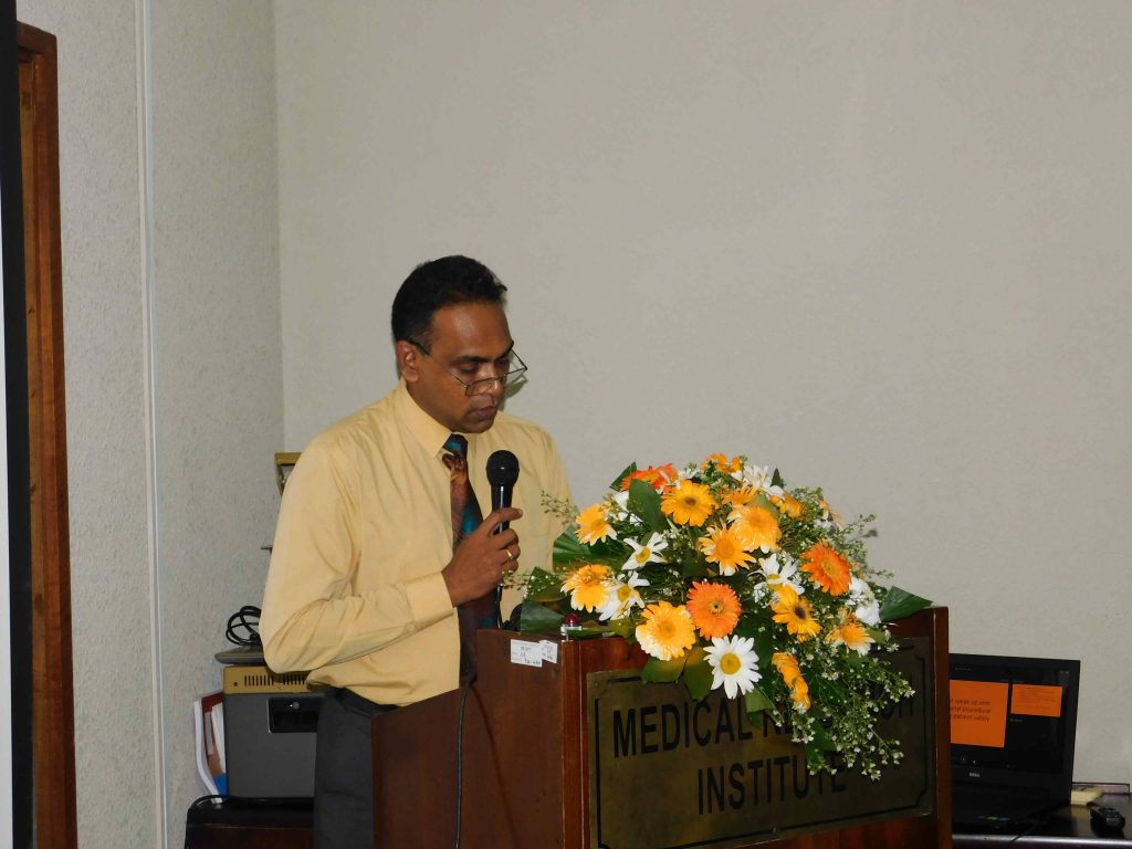 Dr Jayaruwan Bandara, Director, Medical Research Institute